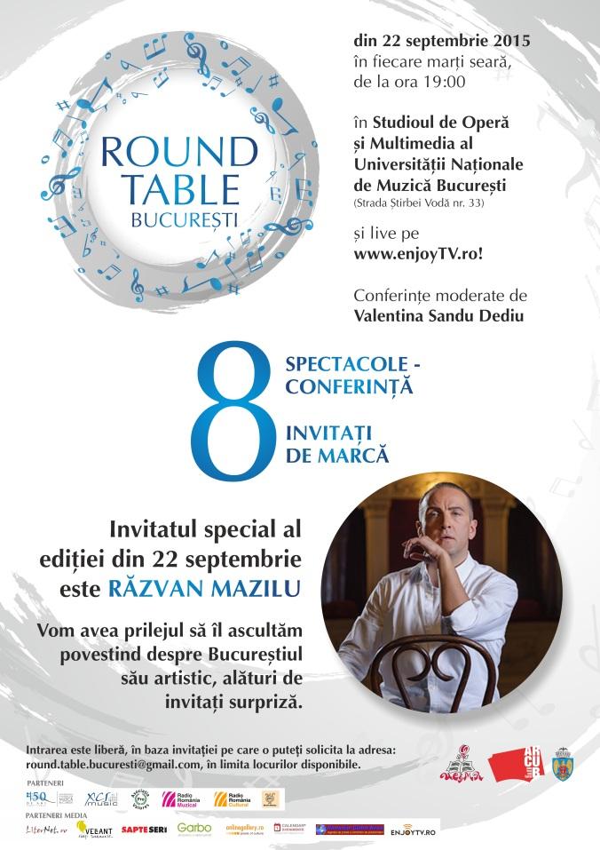 Poster Razvan Mazilu Round Table Bucuresti